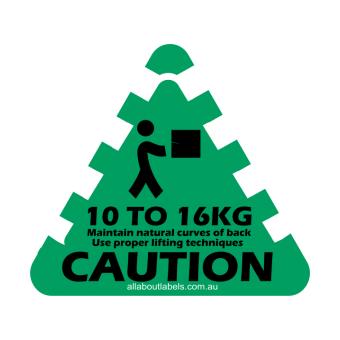 10kg - 16kg Weight Warning Labels