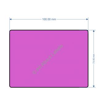 100mm x 73mm Purple Labels - 82199