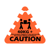 40kg+ Weight Warning Labels