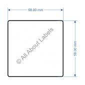 58mm x 59mm Scale Label - 82390