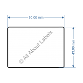 60mm x 43mm Scale Label - 82012