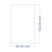 Brother Compatible 62mm x 100mm removable labels