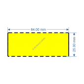 64mm x 25mm Yellow TT Data Strip - 82042