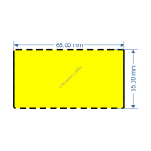 65mm x 35mm Yellow DT Data Strip - 82048