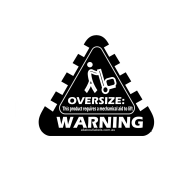 Oversize Weight Warning Labels